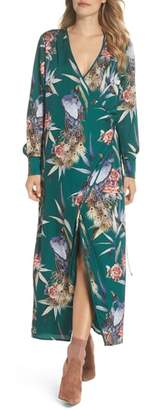 FOREST LILY Floral Print Wrap Dress