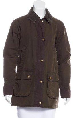 Barbour Colorblock Utility Jacket $175 thestylecure.com