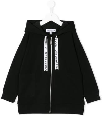 Simonetta branded drawstring hoodie