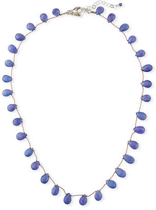 "Margo Morrison Short Teardrop Stone Necklace, 17""L"