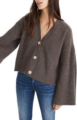 Madewell Wide Sleeve Crop Cardigan Sweater