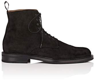 Barneys New York Men's Suede Lace-Up Ankle Boots