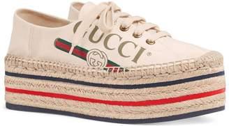 Gucci Convertible Logo Espadrille