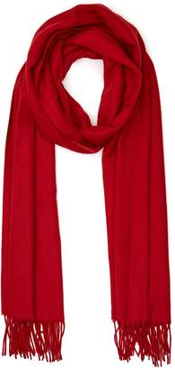Reiss TEMPLE OVERSIZED FRINGED SCARF Red