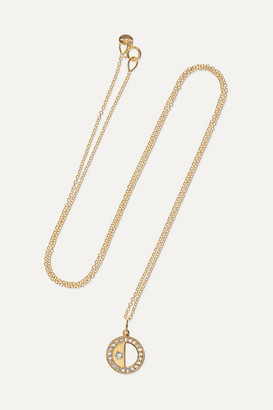 Andrea Fohrman Half Moon 18-karat Gold Diamond Necklace - one size
