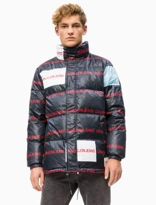 Calvin Klein multi logo down puffer jacket