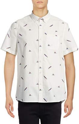 Michael Bastian Shark Bite Printed Sport Shirt