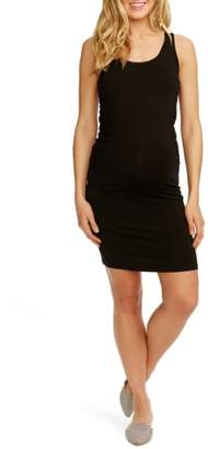 Kimberly ROSIE POPE 'Kimberly' Ruched Side Maternity Tank Dress