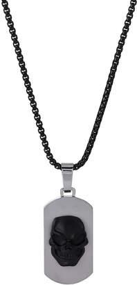 Room101 Skull Dog Tag Necklace