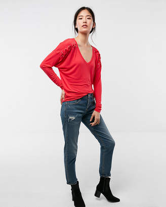 Express Lace-Up Shoulder Tee