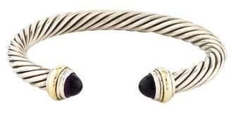 David Yurman Amethyst Cable Hinge Bracelet