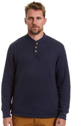 Stanley Big & Tall Classic-Fit Sherpa-Lined Thermal Henley