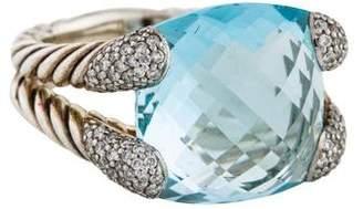 David Yurman Topaz & Diamond Willow Ring w/ Tags