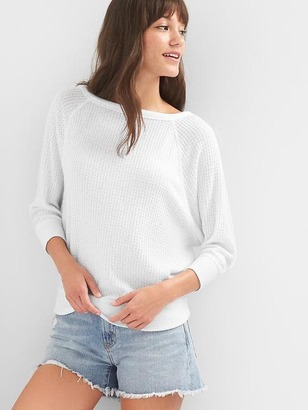 Waffle knit boatneck sweater $44.95 thestylecure.com