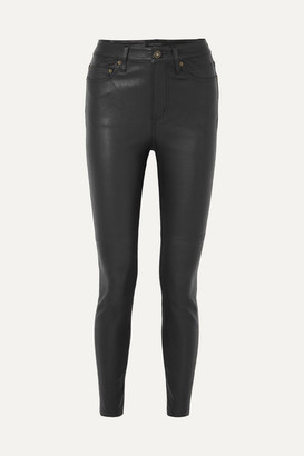 Equipment Skinny Leather Pants - Black