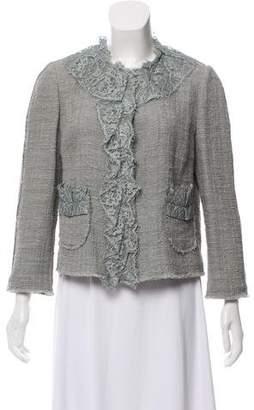 Dolce & Gabbana Lace-trimmed Tweed Blazer