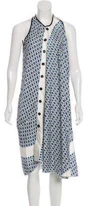 Derek Lam Floral Print Midi Dress