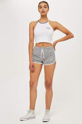 Topshop Rainbow Embroidered Runners Shorts