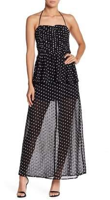 Endless Rose Peplum Halter Maxi Dress