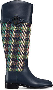Tory Burch Miller Riding Boots, Tweed