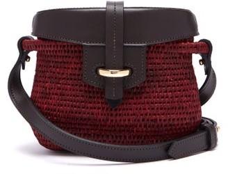 Khokho - Jabu Leather Trimmed Mini Basket Bag - Womens - Burgundy