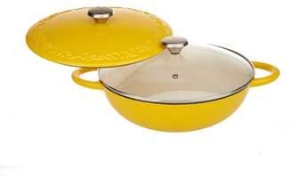 Valerie Bertinelli Baum-Essex Four Quart Cast Iron Chef's Pot, Yellow
