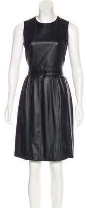 Raoul Leather A-Line Dress