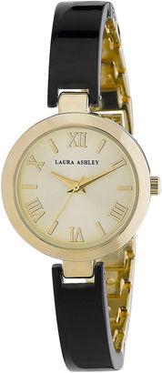 Laura Ashley Womens Black/Gold Resin Link Watch La31002Bk $345 thestylecure.com