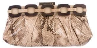 Anya Hindmarch Snakeskin Chain-Link Clutch