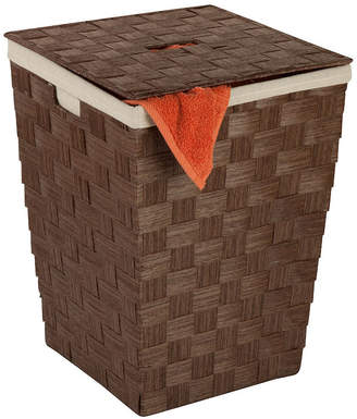 Honey-Can-Do Woven Lined Hamper with Lid