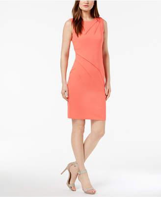 Calvin Klein Pleated Sheath Dress
