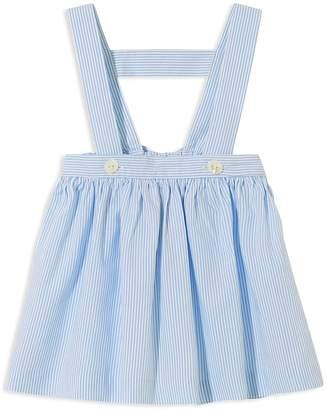 Jacadi Girls' Striped Skirt with Suspenders