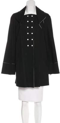 Zac Posen Double-Breasted Knee-Length Coat