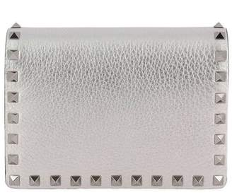 Valentino Mini Bag Rockstud Spike Mini Crossbody Bag In Laminated Leather With Thin Chain Strap