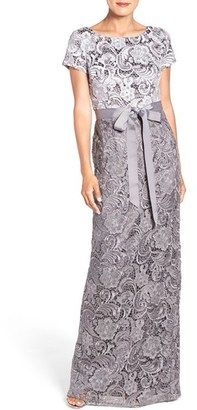 Women's Adrianna Papell Tonal Lace Gown $289 thestylecure.com