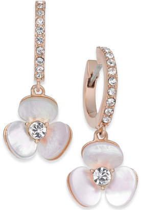 Kate Spade 14k Rose Gold-Plated Pavé & Mother-of-Pearl Flower Drop Earrings