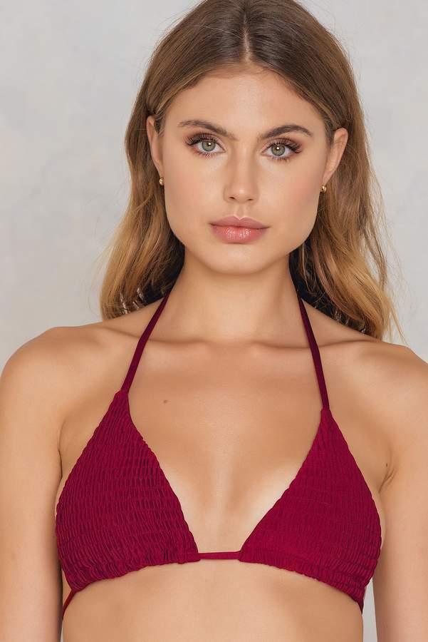 Hot Anatomy Wrinkled Triangle Bikini Top
