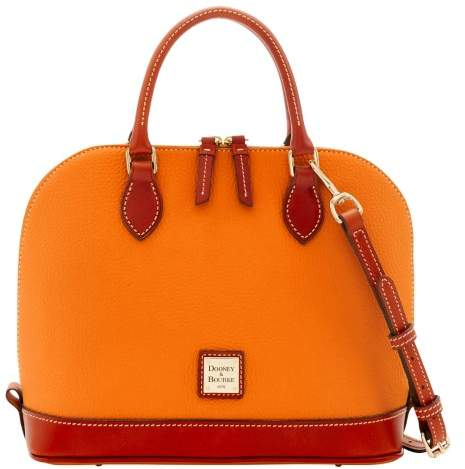 Dooney & Bourke Pebble Grain Zip Zip Satchel - TANGERINE - STYLE