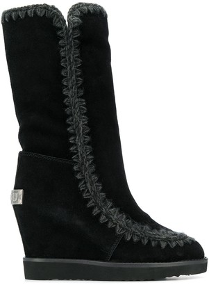 Mou wedge heel boots