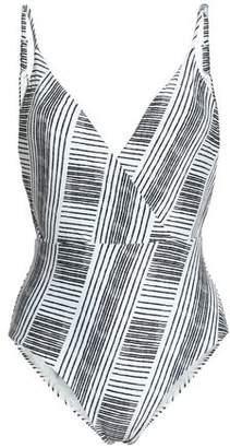 Vix Paula Hermanny Madalena Wrap-Effect Printed Swimsuit
