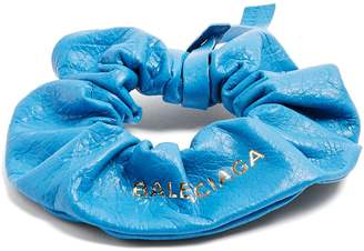Balenciaga Leather hair tie