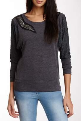 Panitti Lace Dolman Sleeve Pullover Sweater