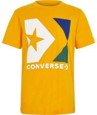 Converse Boys yellow logo T-shirt