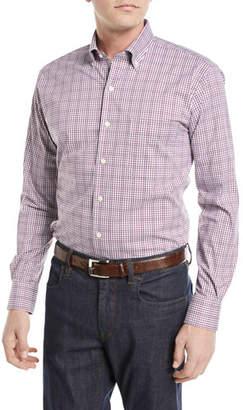 Peter Millar Diamond Head Gingham Cotton-Blend Sport Shirt