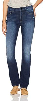 Ludlow Madison Female Denim Women's High Waisted Mini Boot Cut Jean