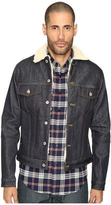 Naked & Famous Denim Sherpa Lined Left Hand Twill Denim Jacket
