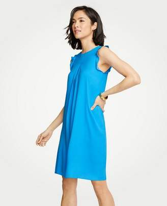 Ann Taylor Petite Sleeveless Ruffle Shift Dress