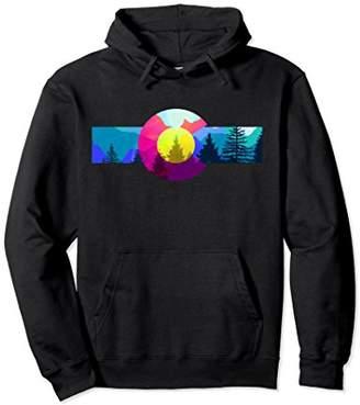 Colorado Hoodie - Colorful Colorado Rocky Mountains Hoodie