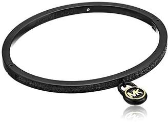 Michael Kors Tone Steel & Pavé Padlock Hinged Bracelet