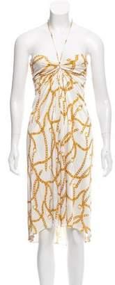 Celine Chain-Link Print Dress